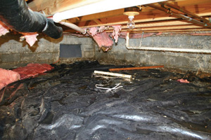 Crawl Space Repair Before in Cookeville