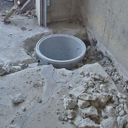 Placing a sump pit in a Manchester home