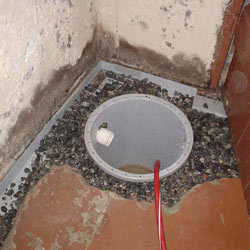 Installing a sump in a sump pump liner in a Unionville home